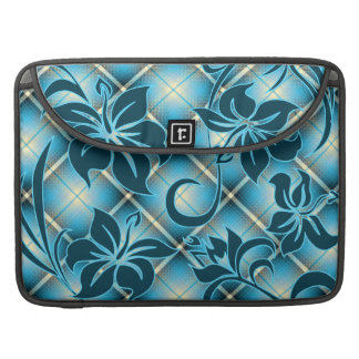 Mauna Loa Hawaiian Hibiscus Plaid Sleeve For MacBook Pro