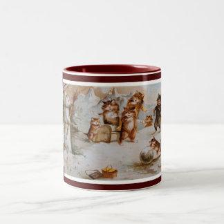 Maurice Boulanger's Christmas Cats Two-Tone Coffee Mug