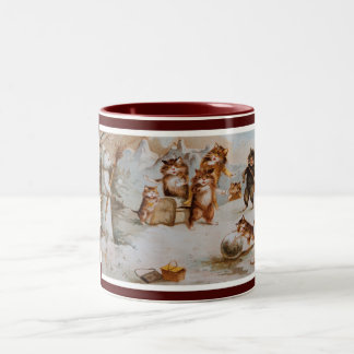 Maurice Boulanger's Christmas Cats Two-Tone Mug