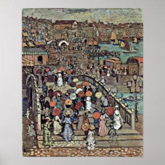 Maurice Brazil Prendergast - Ponte della Paglia Poster