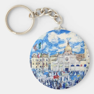 Maurice Prendergast- Campo Santa Maria Formosa Basic Round Button Key Ring