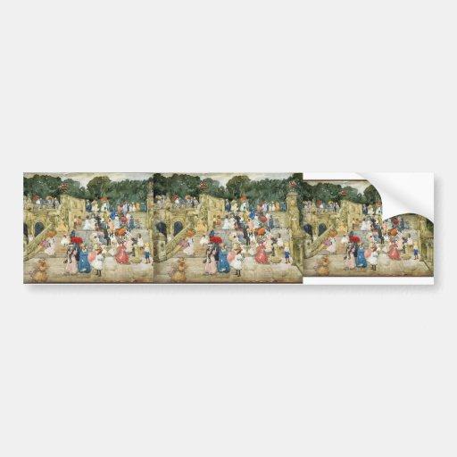 Maurice Prendergast- The Mall, Central Park Bumper Sticker