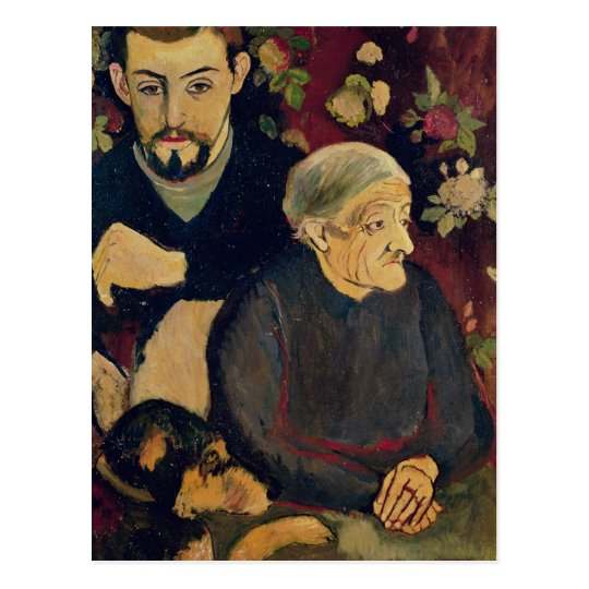 Maurice Utrillo, his Grandmother and his Dog Postcard