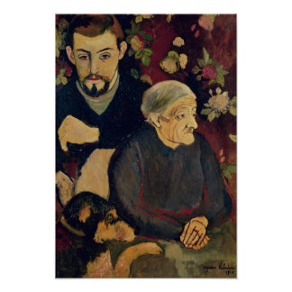 Maurice Utrillo, his Grandmother and his Dog Poster