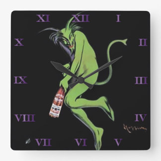Maurin Quina Green Devil Absinthe Clock - 2