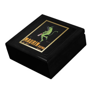 Maurin Quina Green Devil Absinthe Poster Large Square Gift Box