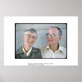 Maurine and Rene Williams, Tucson, Arizona Poster