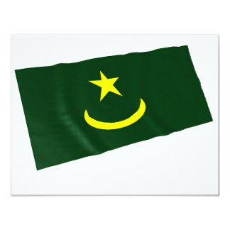 mauritania 11 cm x 14 cm invitation card