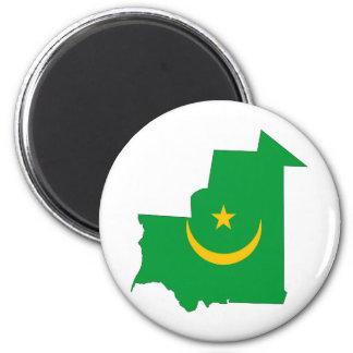 mauritania country flag map shape symbol magnet