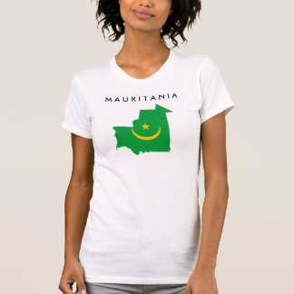 mauritania country flag map shape symbol T-Shirt