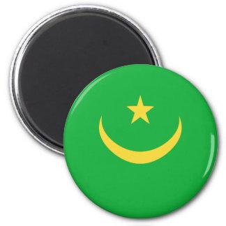 Mauritania Fisheye Flag Magnet