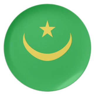 Mauritania Fisheye Flag Plate