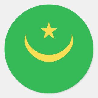 Mauritania Fisheye Flag Sticker