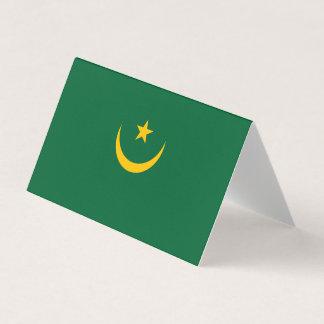 Mauritania Flag Business Card