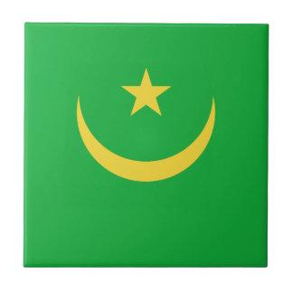 Mauritania Flag Ceramic Tile