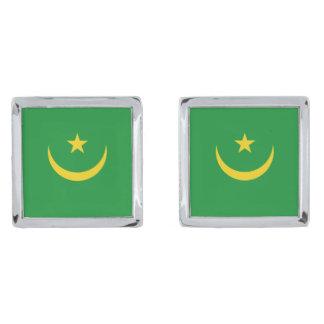Mauritania Flag Cufflinks Silver Finish Cuff Links