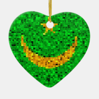 Mauritania Flag glitter ornament