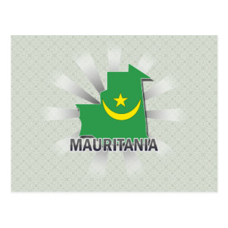 Mauritania Flag Map 2.0 Postcard