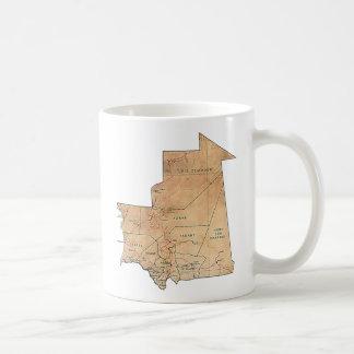 Mauritania Flag ~ Map Mug