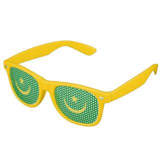 Mauritania Flag Retro Sunglasses