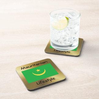 Mauritania Flag+Text Coaster