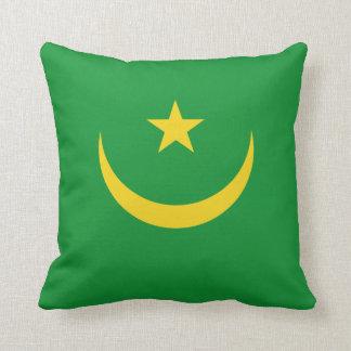 Mauritania Flag x Flag Pillow