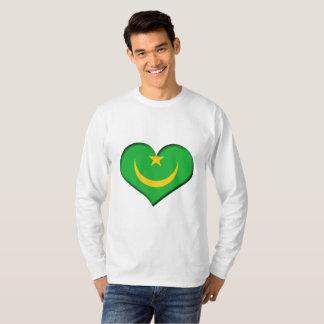 Mauritania Heart Flag T-Shirt