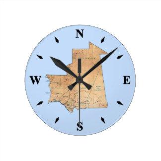 Mauritania Map Clock