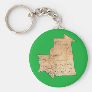 Mauritania Map Keychain