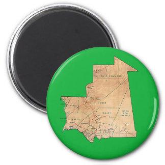 Mauritania Map Magnet
