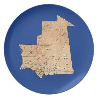 Mauritania Map Plate