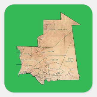 Mauritania Map Sticker