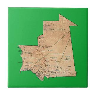 Mauritania Map Tile