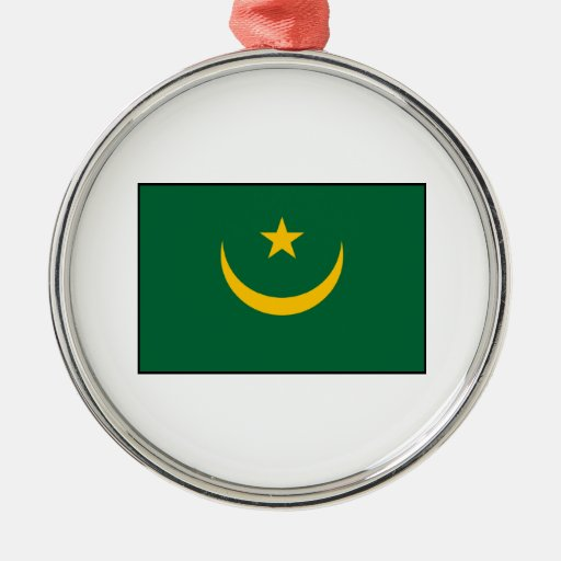 Mauritania - Mauritanian Flag Christmas Tree Ornament