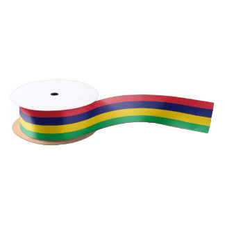 Mauritian flag ribbon satin ribbon
