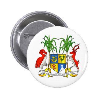 Mauritius Coat of Arms 6 Cm Round Badge