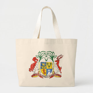 Mauritius Coat Of Arms Large Tote Bag