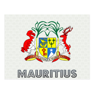 Mauritius Coat of Arms Postcard