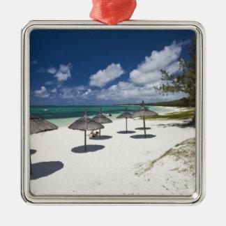 Mauritius, Eastern Mauritius, Belle Mare, Silver-Colored Square Decoration
