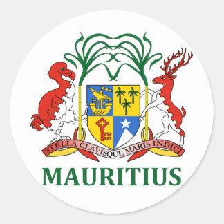 mauritius - emblem/flag/coat of arms/symbol classic round sticker