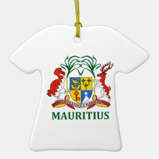 mauritius - emblem/flag/coat of arms/symbol Double-Sided T-Shirt ceramic christmas ornament