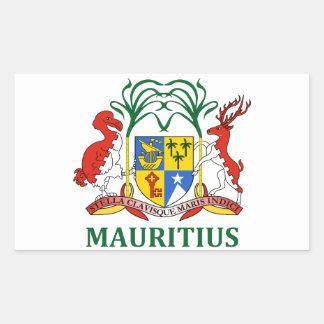 mauritius - emblem/flag/coat of arms/symbol rectangular sticker