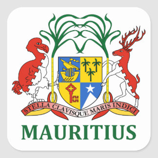 mauritius - emblem/flag/coat of arms/symbol square sticker