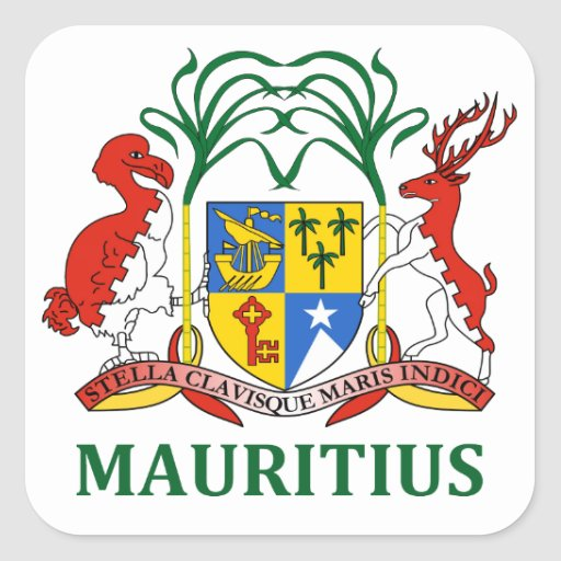 mauritius - emblem/flag/coat of arms/symbol stickers