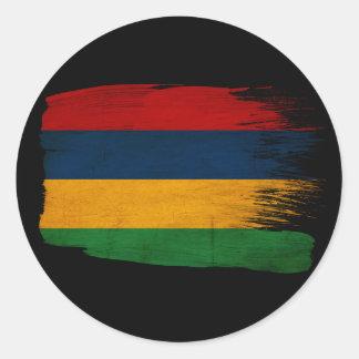 Mauritius Flag Classic Round Sticker