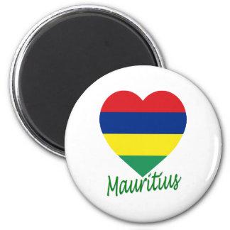 Mauritius Flag Heart Magnet