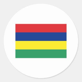 Mauritius FLAG International Classic Round Sticker