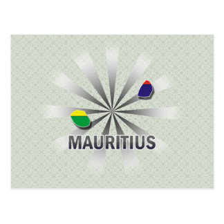Mauritius Flag Map 2.0 Postcard