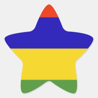 Mauritius Flag Star Sticker