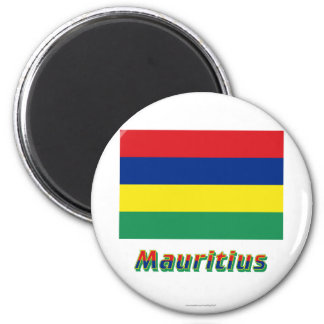Mauritius Flag with Name Magnet